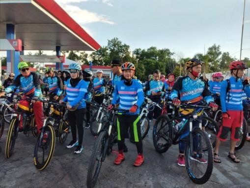 Pemkab Bangka Promosi Tempat Wisata Belinyu Dengan Bersepeda Swakarya